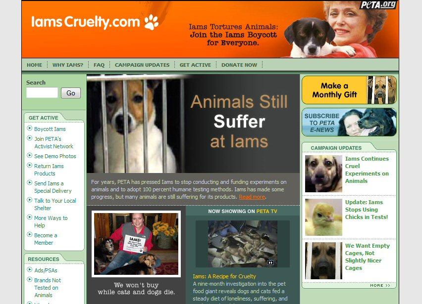 Iams Dog Food Cruelty To Animals