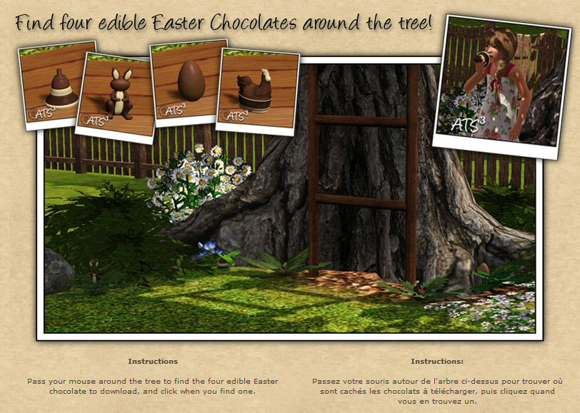 an easter egg hunt at around the sims 3 - Easter Egg Images 3