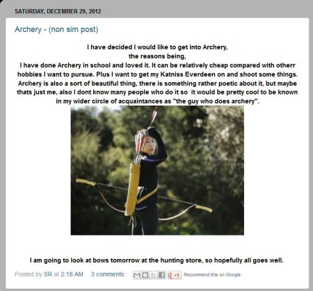 simromanov wants to get into archery