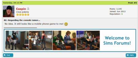 sims forums and the latest sims 4 port 1