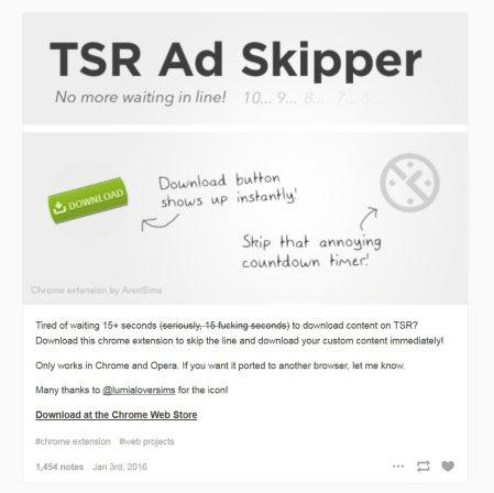 tsr ad skipper for wankers