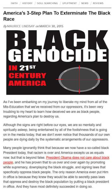 black lives matter's links to sinister stop black genocide movement 3