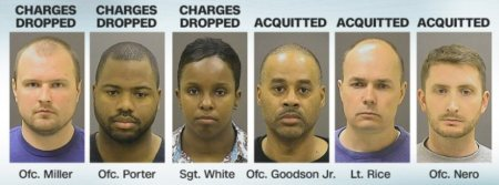 six police officers charged with freddie grey murder