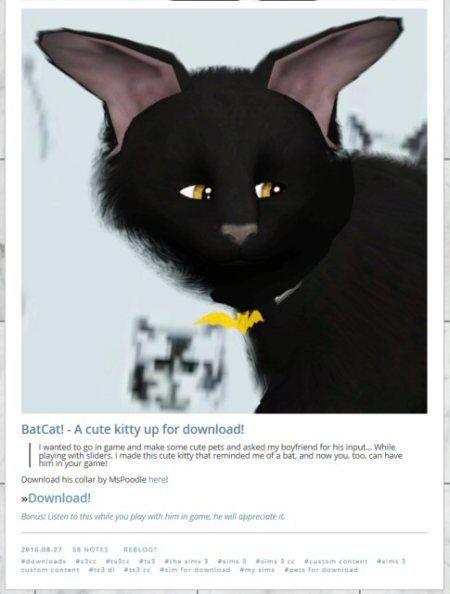 alovelikesims batcat this is awful 1